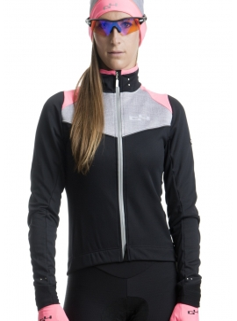 Veste de cyclisme hiver rose fluo Distinguished