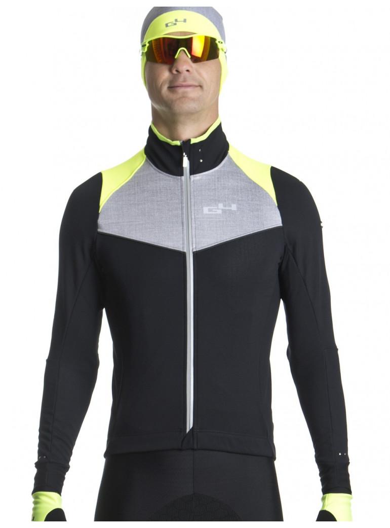 Veste chaude de cyclisme jaune fluo Distinguished