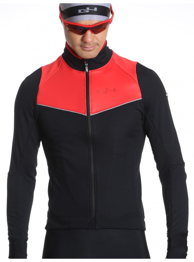 Veste de cyclisme chaude rouge  homme Simply