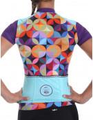 Maillot vélo femme violet imprimé Hipster