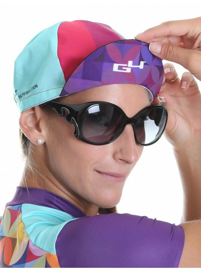 Casquette vélo femme rose