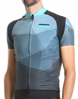 Men's cycling jersey blue Hipster