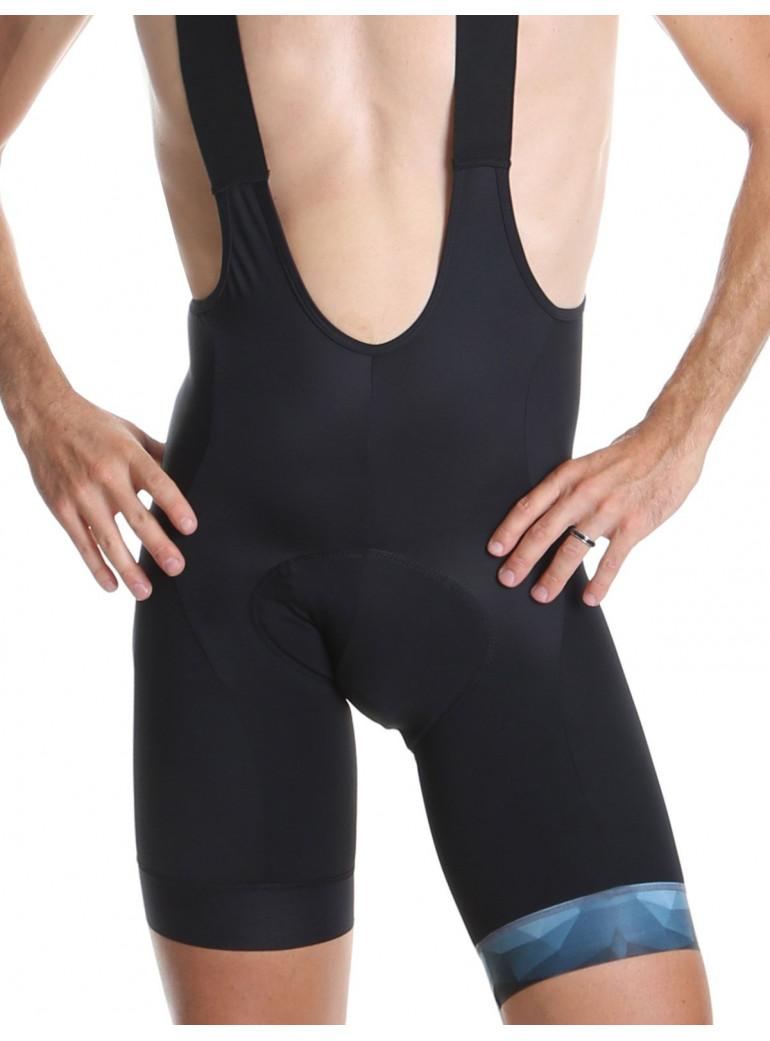 Men's cycling bib shorts bleue Hipster