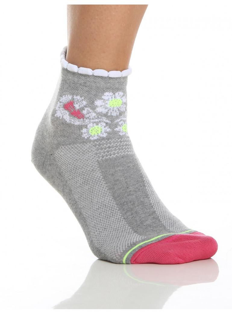 Distinguished woman Cycling Socks grey