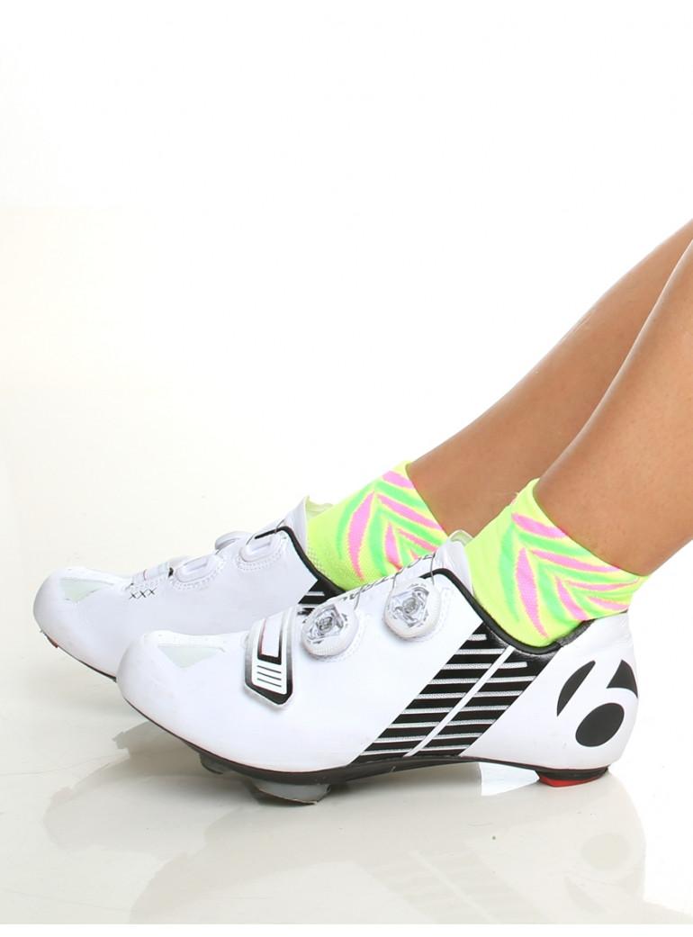 Chaussettes cyclisme femme jaune Tropic