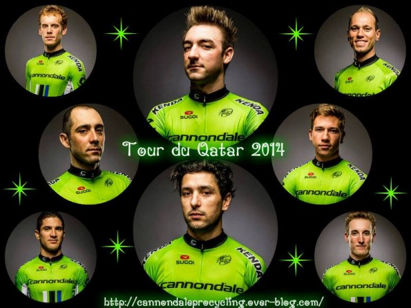 Here's the team for Qatar (image: blog Cannondale Pro Cycling)