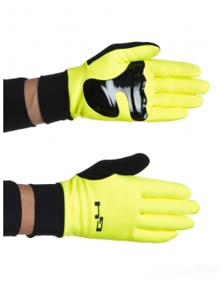 Gants cyclisme thermiques jaunes fluos