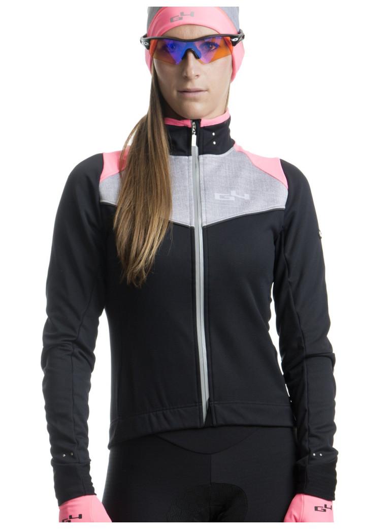 women 39 s pink cycling jacket g4. Black Bedroom Furniture Sets. Home Design Ideas