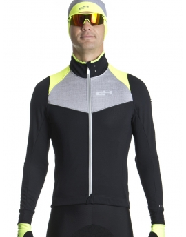 Men's neon yellow warm cycling jacket Distinguished