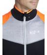 Veste thermique de cyclisme orange