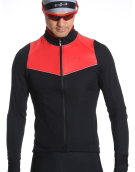Men's black and red winter cycling jacket Simply
