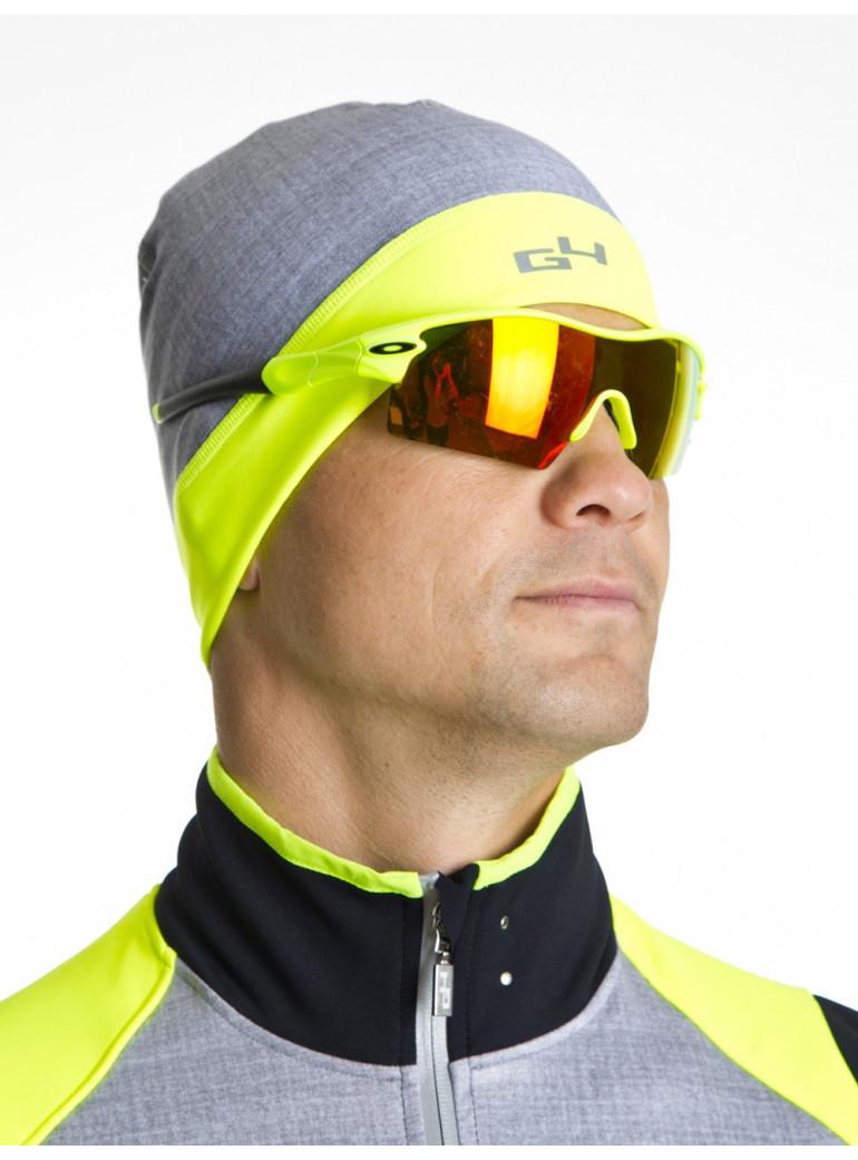 Bonnet cyclisme jaune fluo