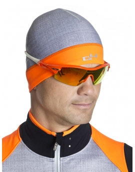 Bonnet cyclisme orange fluo