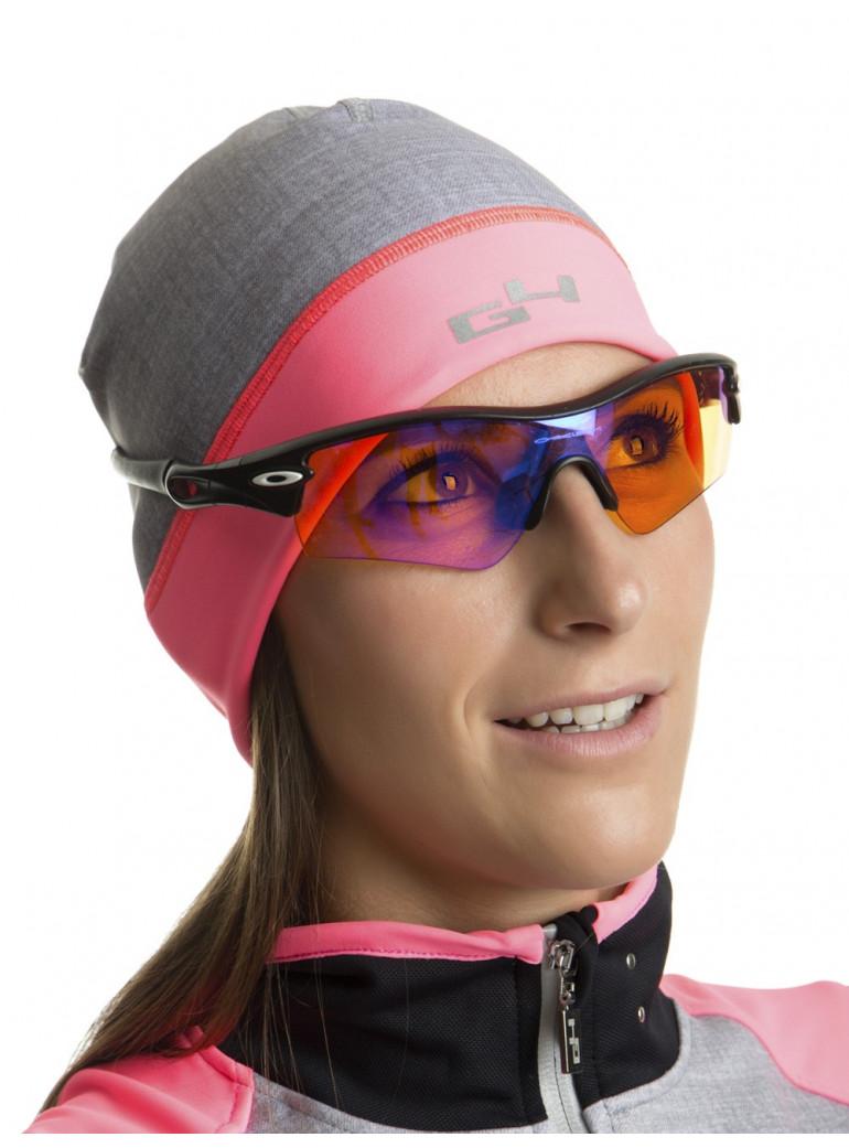 Bonnet cyclisme rose fluo