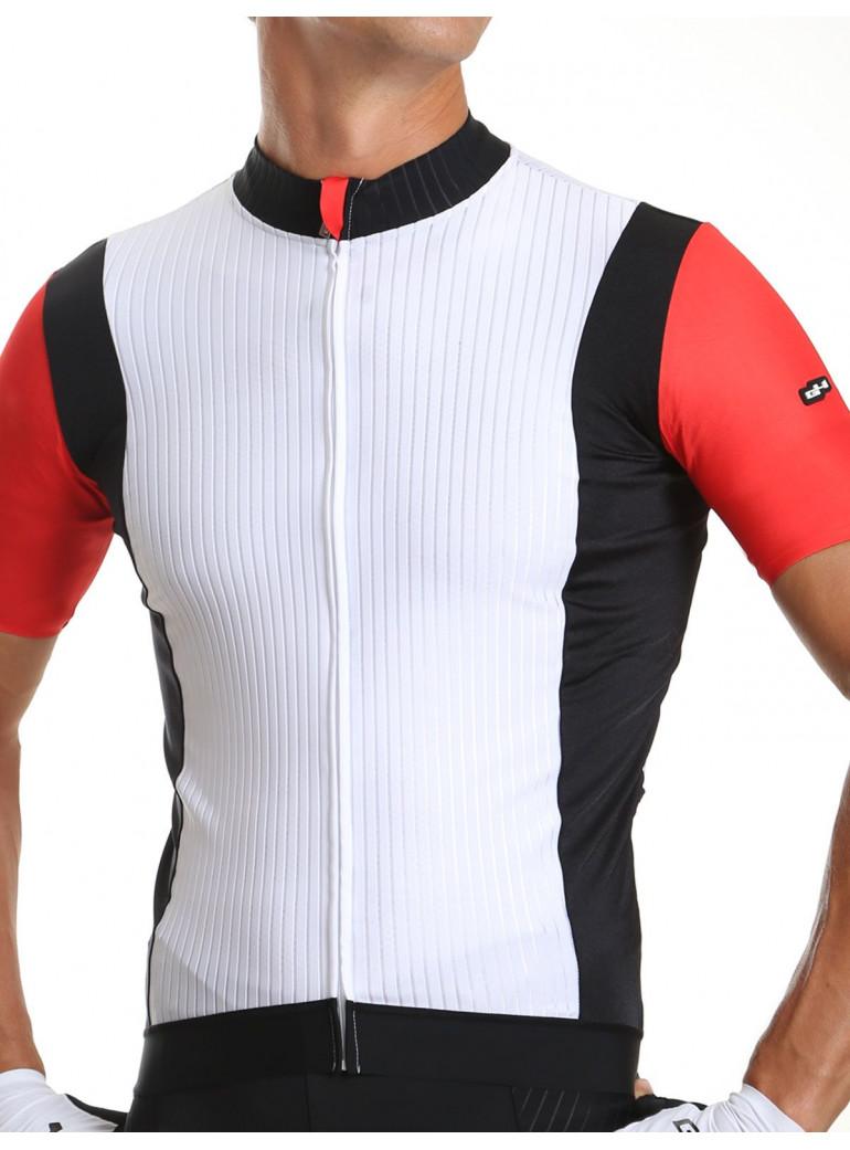 Maillot vélo homme rouge/noir/blanc Distinguished