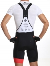 Men's cycling bib short red Distinguished