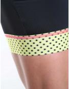 Cuissard cyclisme femme noir/jaune Simply