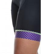 Cuissard vélo femme noir/violet Simply