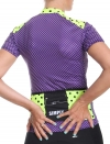 Maillot cyclisme femme violet Simply