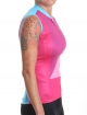 Women's sleeveless cycling jersey pink Hipster