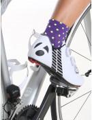 Chaussettes vélo femme violettes Simply