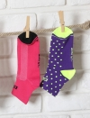 Chaussettes cyclisme femme roses Simply