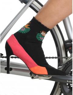 Chaussettes cyclisme femme noires Distinguished Jungle