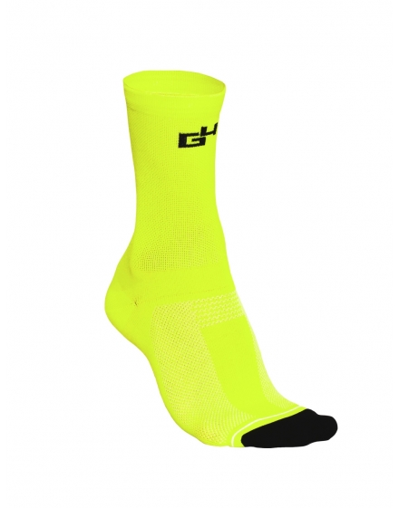 SIMPLY Chaussettes Jaune Fluo