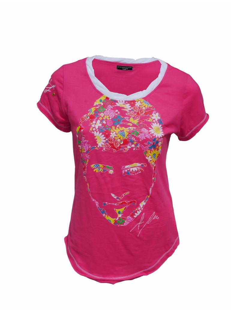 """t-shirt femme """"peter's flowers-fleurs"""" edition limitée"""