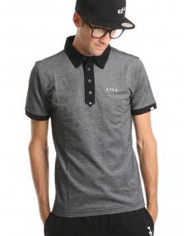 Polo homme gris chiné