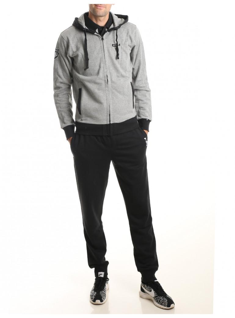 Survêtement homme gris et noir ELEGANT