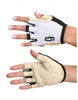 Summer leather white gloves