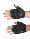Summer leather black gloves