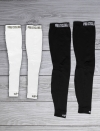 Bundle Arm white and Leg Black warmers
