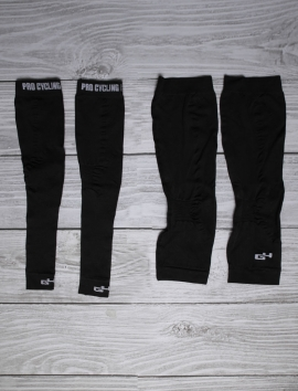 Bundle Arm Black and Knee Warmers