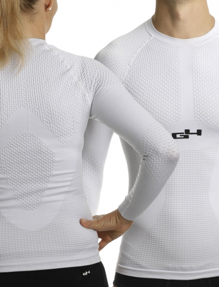 Sous-maillot manches longues Hiver Blanc