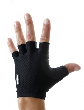 BLACK CYCLING GLOVES SIMILEATHER