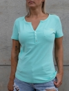 BLUE TURQUOISE CASUAL T-SHIRT FOR WOMEN