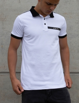 WHITE CASUAL POLO FOR MAN