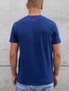 T-SHIRT COL V NAVY BLUE MEN