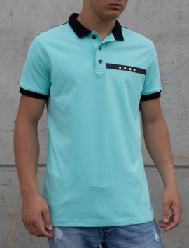 TURQUOISE BLUE POLO MEN