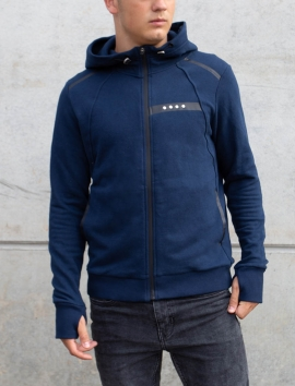 MAN BLUE HOODED PULL