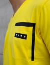 YELLOW T-SHIRT COL V MEN