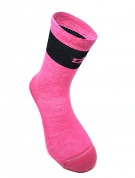 CHAUSSETTES DE VÉLO MERINOS THERMO ROSE