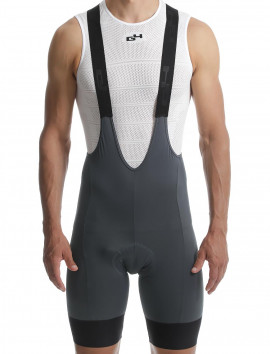 ASPHALT GREY BIBSHORTS MAN