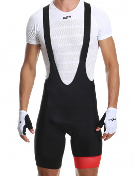 Men's bib shorts black/red Distinguished
