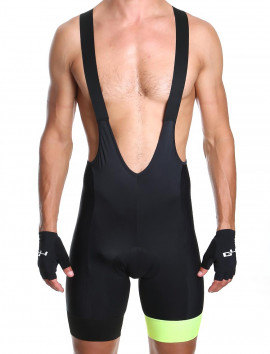 Men's bib short yellow Distinguished