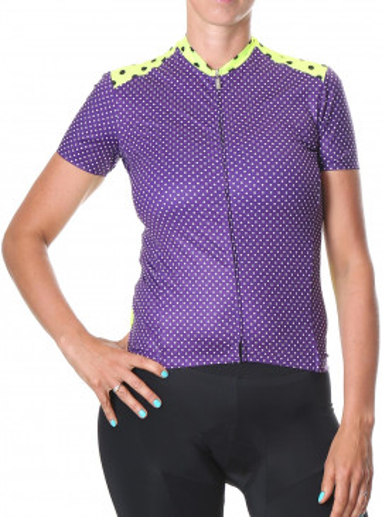 Women's cycling jersey purple Simply