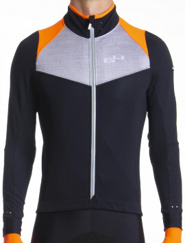Men's orange winter cycling jacket Distinguished