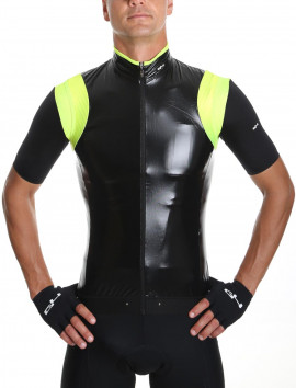 Wind Gilet Unisex black and neon yellow